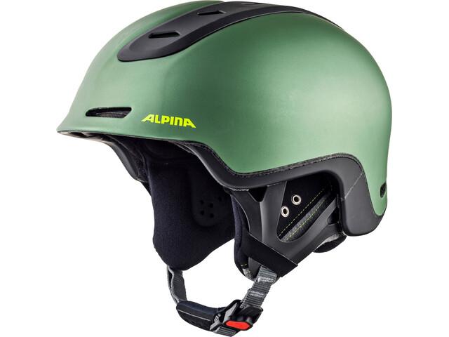 Alpina Spine Casque de ski, moss-green matt
